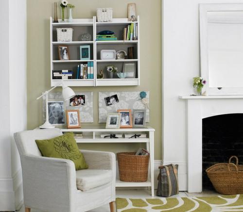 kamin korb regale schreibtisch büro haus wohnzimmer teppich