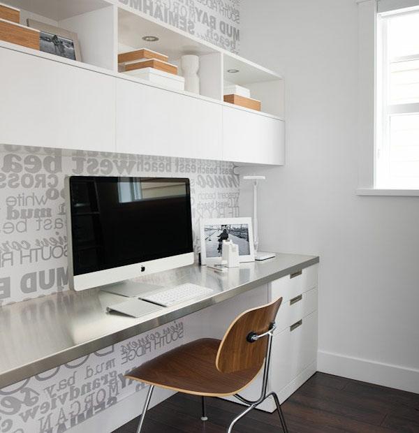 büro homeoffice design edelstahl arbeitstisch