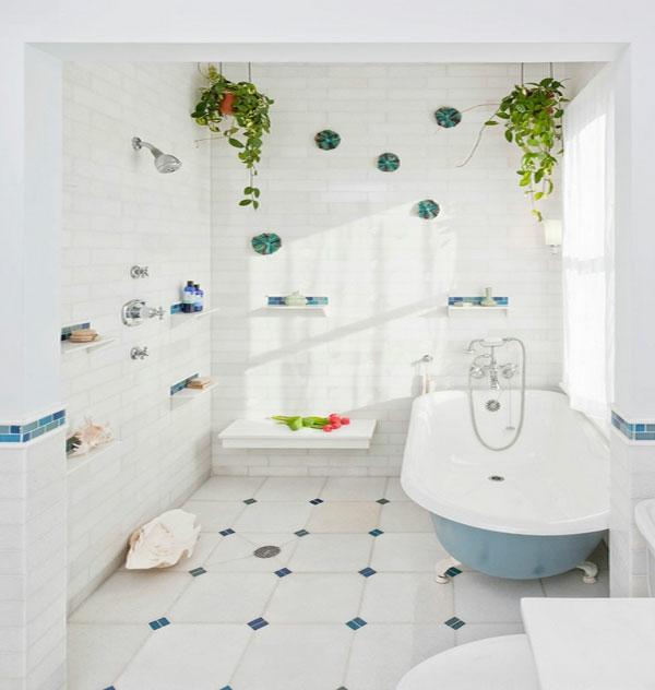 badewanne badezimmer zimmerpflanzen hängepflanzen