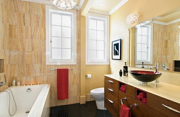 badezimmer pendellampen badewanne fliesen
