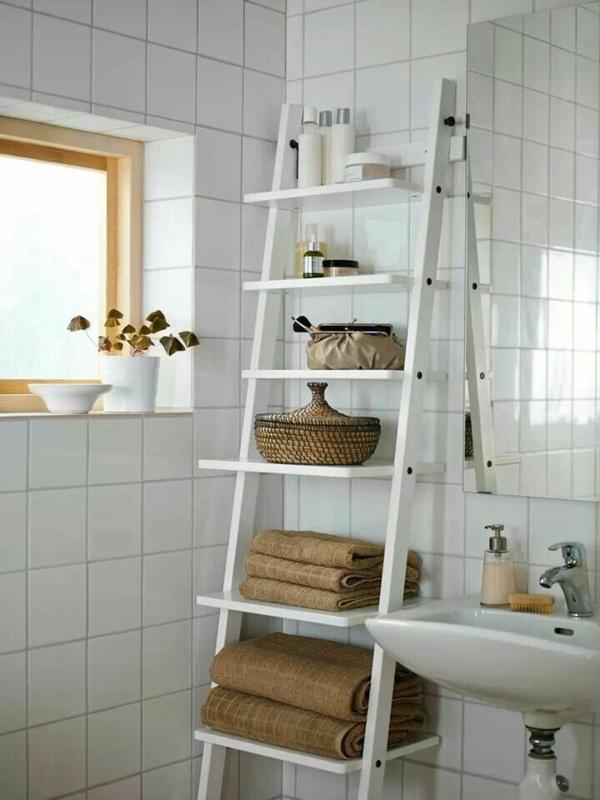 badmöbel ikea treppe als regalsystem tücher badezimmer