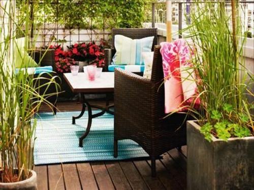 balkonpflanzen bewohnlich entwerfen idee gemütlich gras