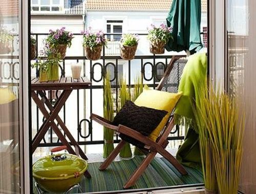 balkonpflanzen bewohnlich entwerfen idee gemütlich klappmöbel
