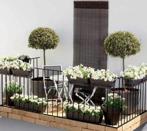 gestaltung bewohnlich entwerfen idee gemütlich pflanzen balkon