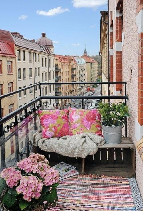 gestaltung bewohnlich entwerfen idee gemütlich vintage balkon