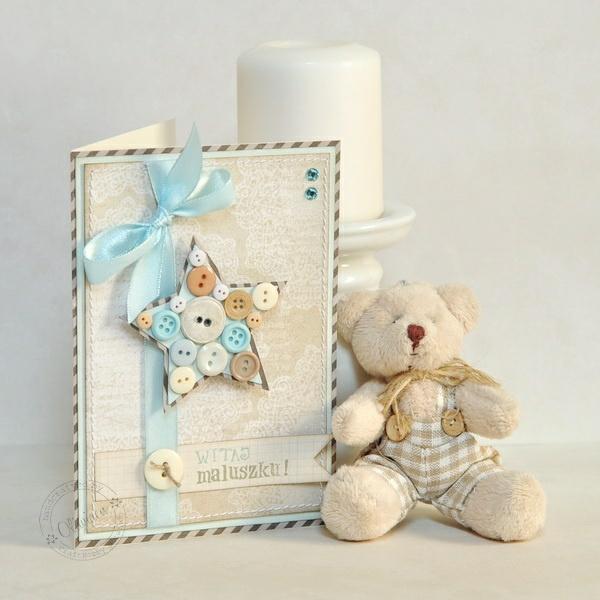 begrüßungskarte teddybär kerze