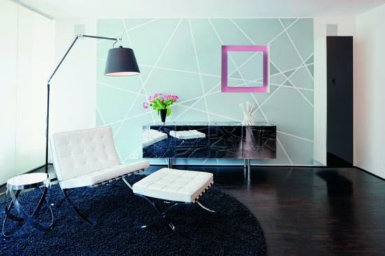 Beleuchtung Ideen Designer Bodenleuchte Wandgestaltung Wohnzimmer Gestalten