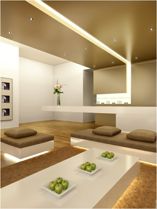 beleuchtung minimalistisch modernes wohnzimmer gestalten farbgestaltung designer möbel