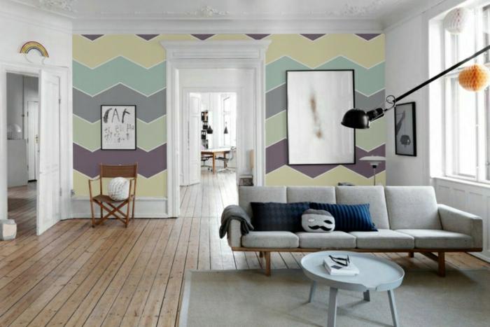Beste Wandfarbe Aussuchen Wandfarben Wohnzimmer Chevron Muster Erstellen