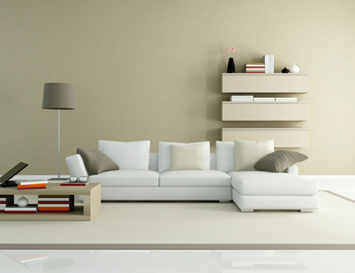 beste wandfarben wohnzimmer neutral wände streichen ideen