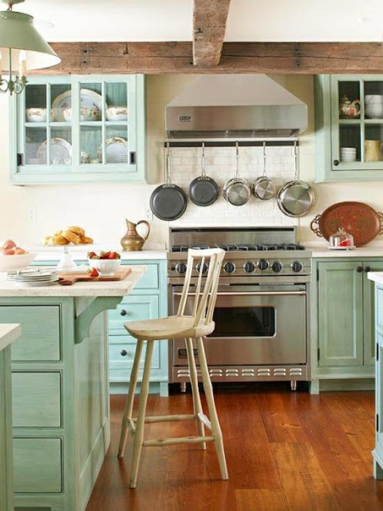 50 moderne Landhausküchen - Küchenplanung und rustikale Küchenmöbel | {Rustikale landhausküchen 30}