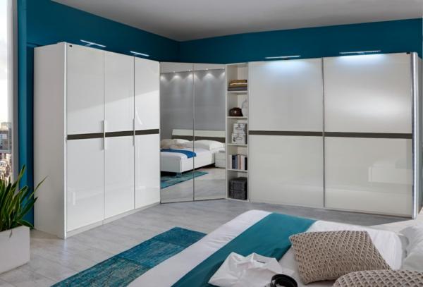 blau weiß garderobe pax kleiderschran schlafzimmer