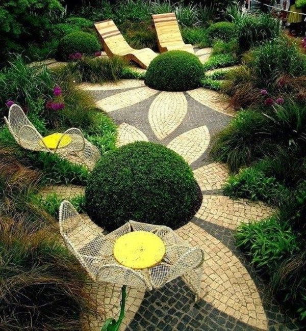 111 Gartengestaltung Bilder Und Inspiriеrende Ideen Für Sie Ideen Fur Den Bodenbelag Im Garten