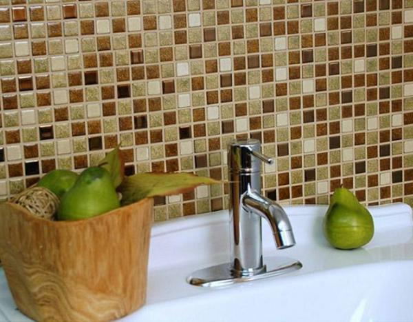 Badezimmer braun mosaik ~ Ideen für die Innenarchitektur Ihres Hauses