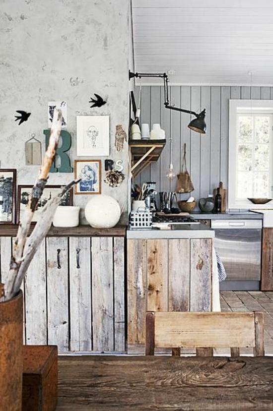 50 moderne Landhausküchen Küchenplanung und rustikale
