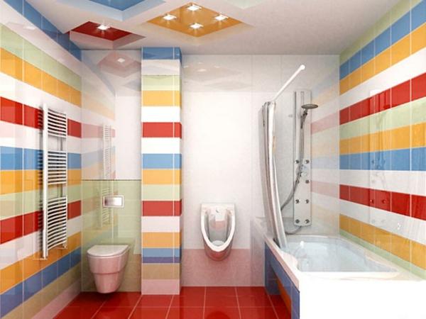 bunt fliesen badezimmermöbel bad ideen bilder