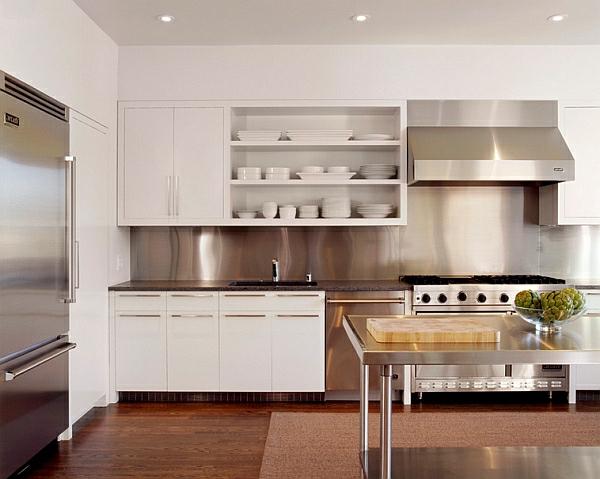 Küche Einrichten Farben ~ charmekücheeinrichtenfarbenküchenschränkeweißoffenregale