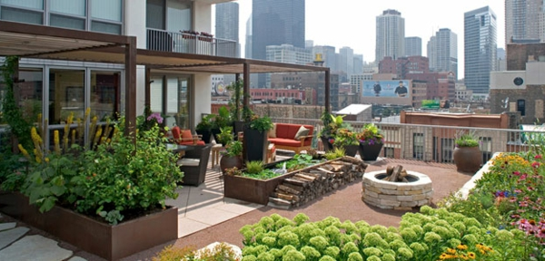 50 Moderne Gartengestaltung Ideen Gemusegarten Auf Dem Dach