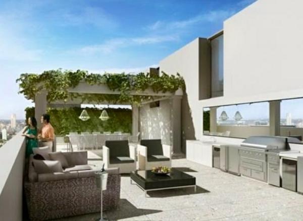 Dachterrasse Gestalten Ideen Outdoor Küche Wohnbereich Essbereich Pergola  Kletterpflanzen