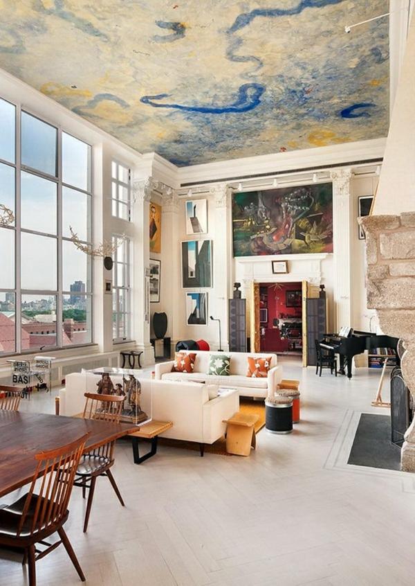 deckenverkleidung verwandelt das zimmer in ein kunstwerk - Moderne Deckenverkleidung Wohnzimmer