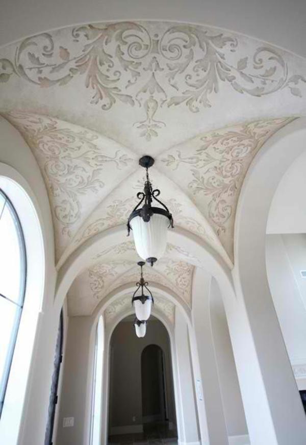 deckengestaltung korridor gewölbt schablonendesign