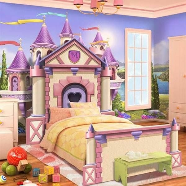 dekoideen für wand kinder schlafzimmer