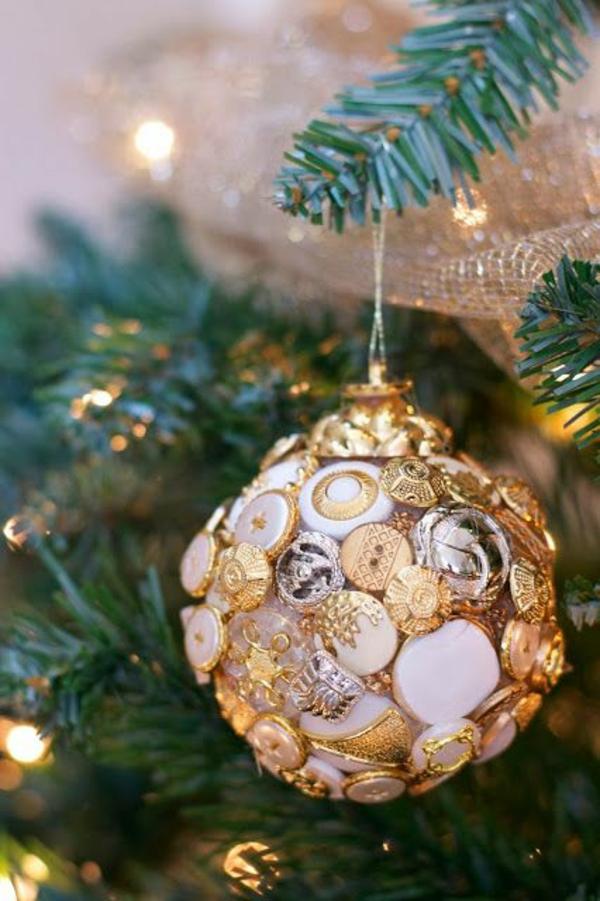 dekoideen knöpfe weihnachtsschmuck