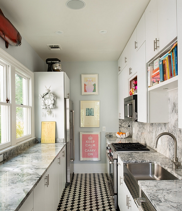 Kücheneinrichtung und Küchenmöbel bodenbelag klein ausstattung