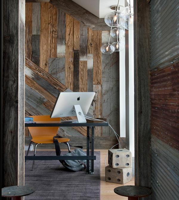 designideen zu hause mit würfeln arbeitsecke