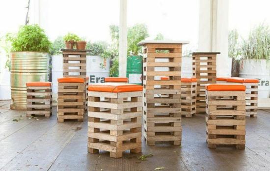 Kettler Gartenmobel Und Auflagen : Stapeln Sie die Holzpaletten aufeinander und streichen Sie in Farbe