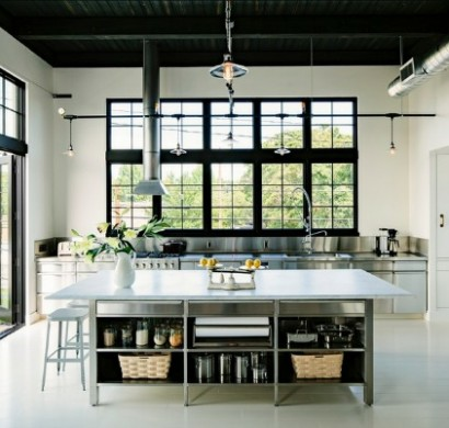 edelstahl k che mit stil und klasse gestalten. Black Bedroom Furniture Sets. Home Design Ideas