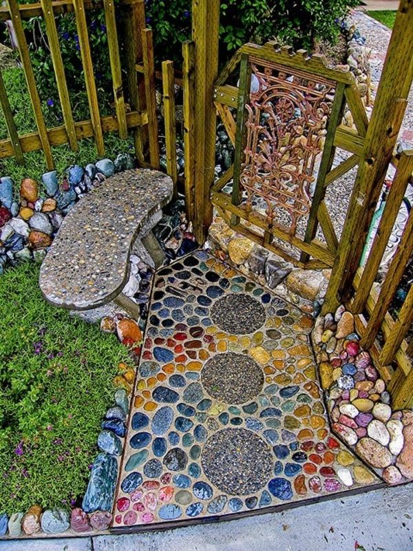 einladender hofeingang gartengestaltungsideen mosaik