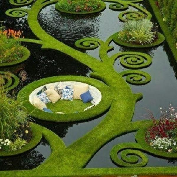 gartengestaltung einmaliger wassergarten