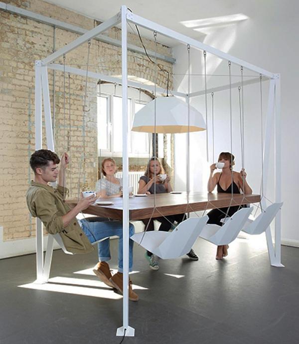 einrichtungsideen eszimmer esstisch schaukel esszimmerstühle