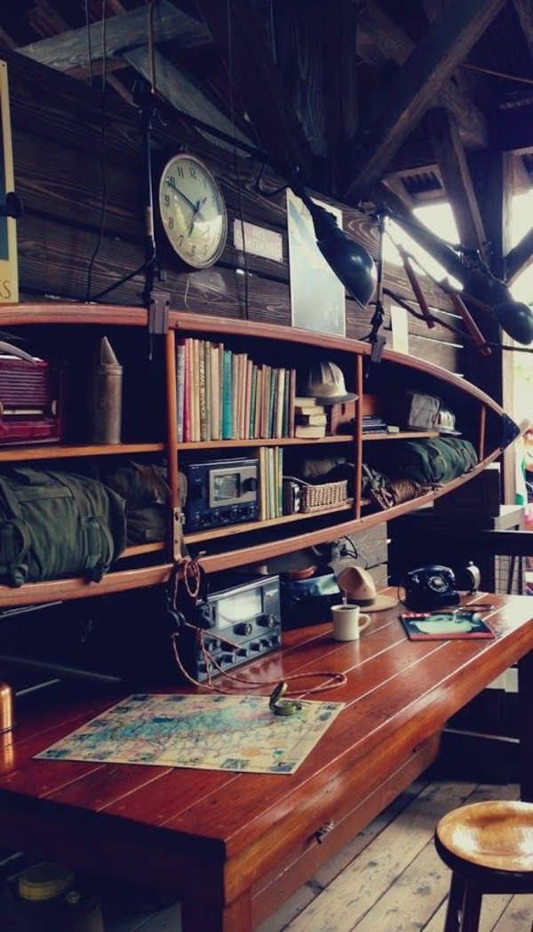 einrichtungsideen jungenzimmer holz rustikal stuhl