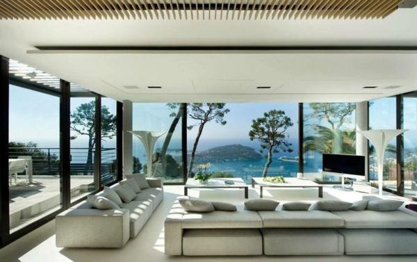 Luxus Schlafzimmer Mit Meerblick Einrichtungsideen Wohnzimmer Sofas Tische Dekokissen