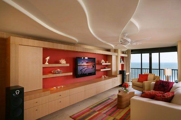 einrichtungsideen wohnzimmer decke  in unterschiedlichen schichten