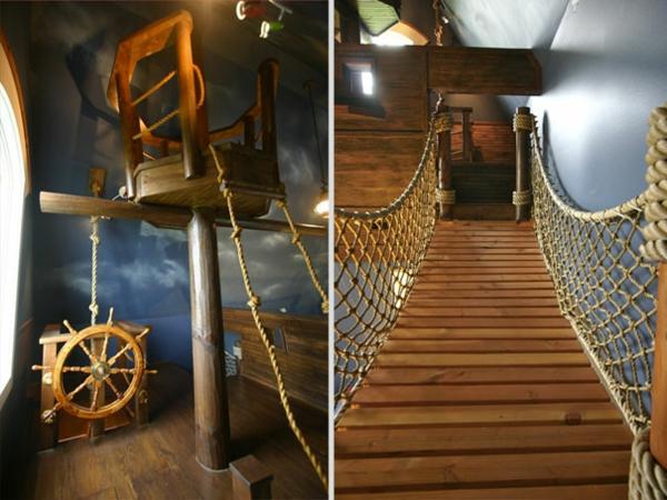 einrichtungsideen wohnzimmer zimmerdecke schiff haus brücke holz