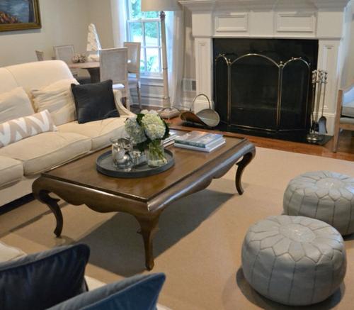 kissen leder wohnzimmer eklektisch stil gepolstert grau