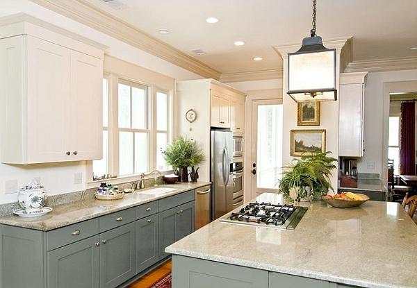 elegant kompakt kleine küche marmor küchenarbeitsplatten