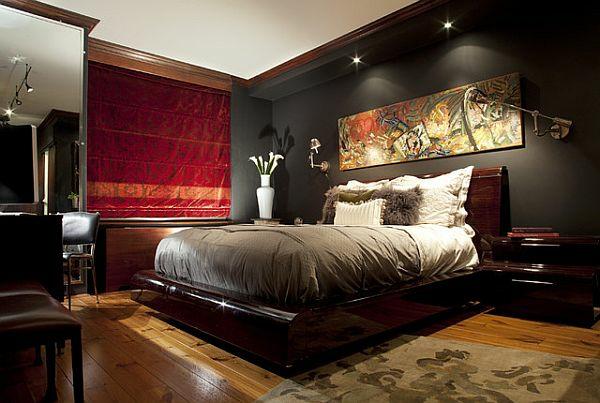 energiesparen dekoideen schlafzimmer teppich blumentopf wanddeko