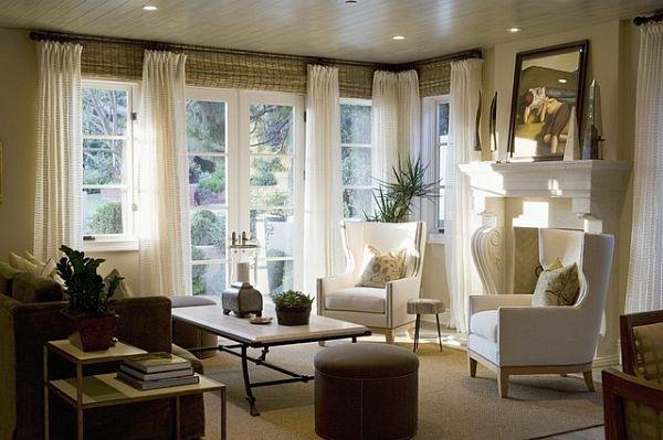 grosse fenster vorhänge welche | möbelideen - Gardinen Fur Wohnzimmer Grose Fenster