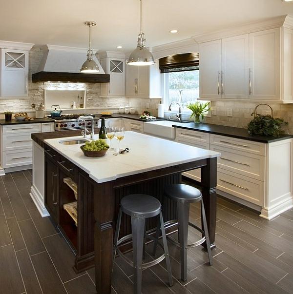 kücheninsel hocker barstühle fenster Kücheneinrichtung und Küchenmöbel