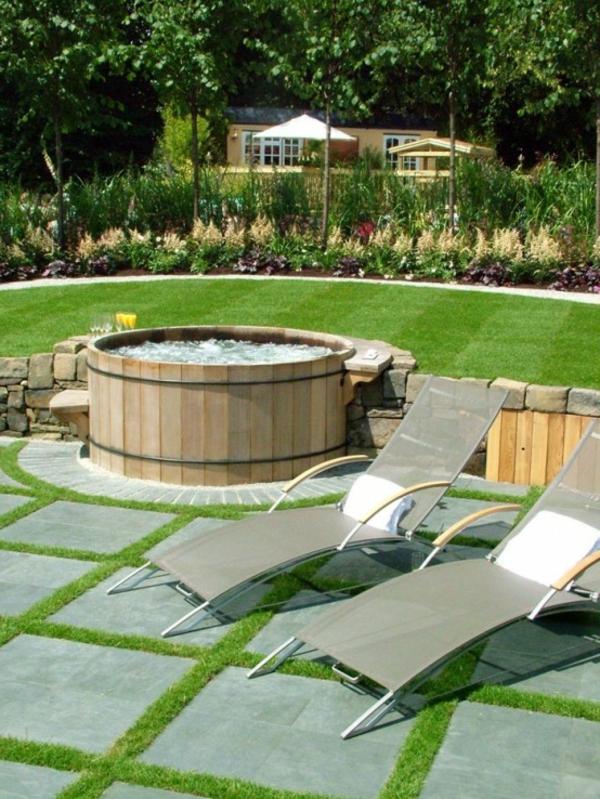 Whirlpool Badewanne Im Garten : holz liegen garten erstaunlich heiße badewanne
