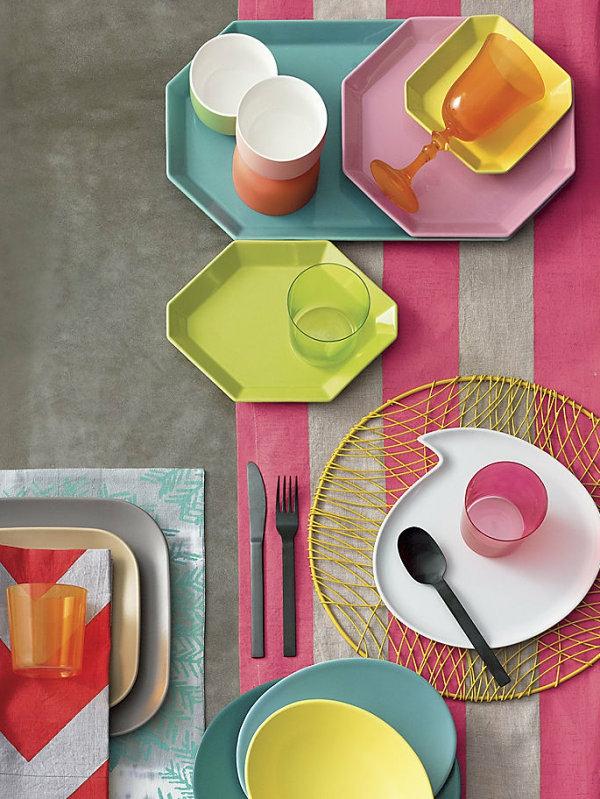 esszimmer besteck plastisch Heimtextilien und Wohnaccessoires in Pastellfarben