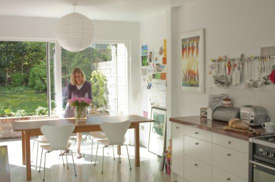 esszimmer küche mit essbereich einrichten stühle holztisch