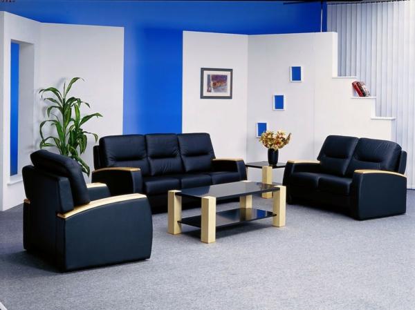 Extravagant Dunkel Blau Schöne Wandfarben Wohnzimmer