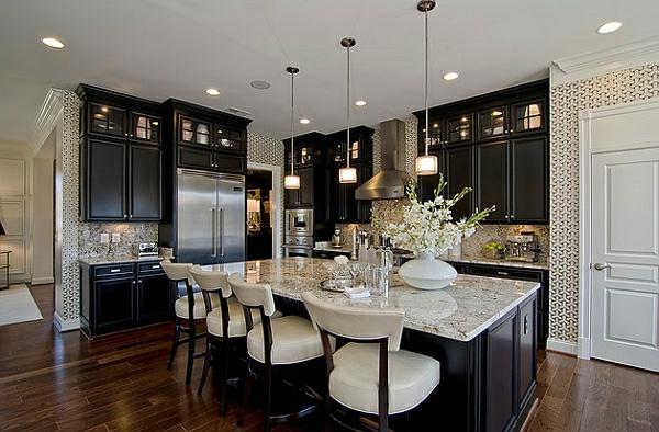 farbgestaltung küche schwarz Kücheneinrichtung und Küchenmöbel küchenschränke