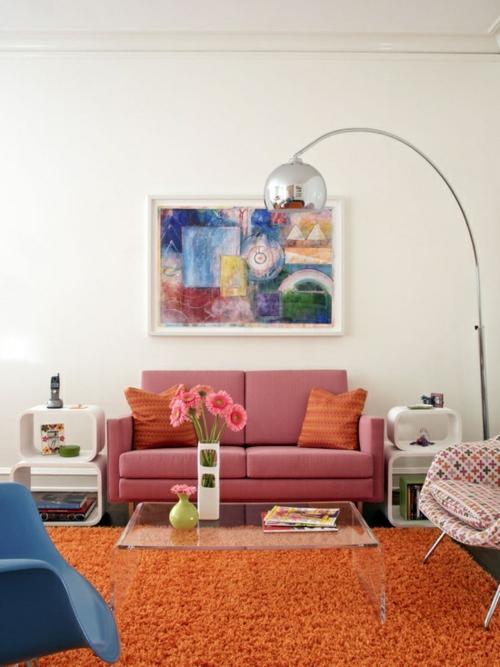 Wohnzimmergestaltung ideen im retro stil for Wohnzimmerleuchten modern