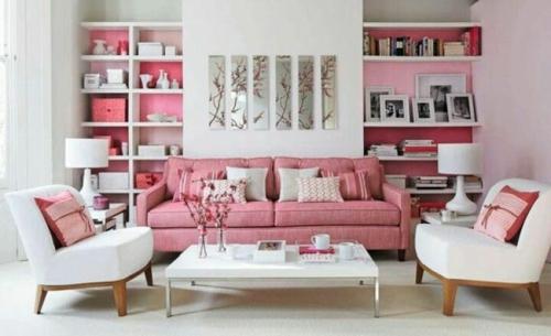 design : wohnzimmer braun rosa ~ inspirierende bilder von ... - Wohnzimmer Braun Rosa